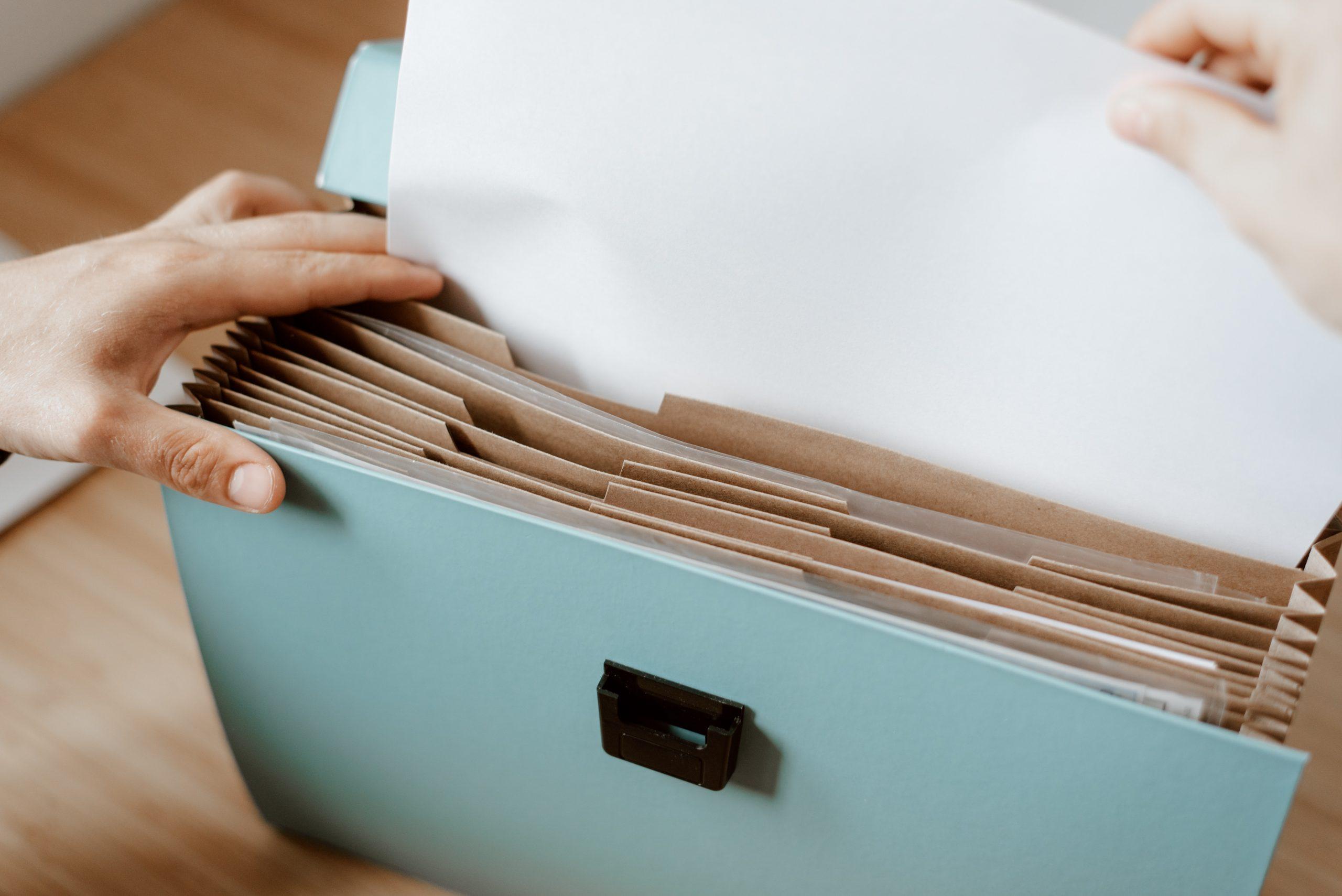 Getting your Paperwork Organised